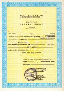 Jasa Penerjemah Tersumpah Akta Kelahiran, Perkawinan dan Perceraian