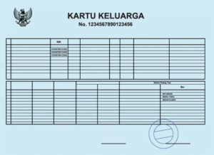 Jasa Translate Kartu Keluarga Indonesia Inggris