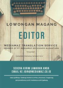 program magang editor