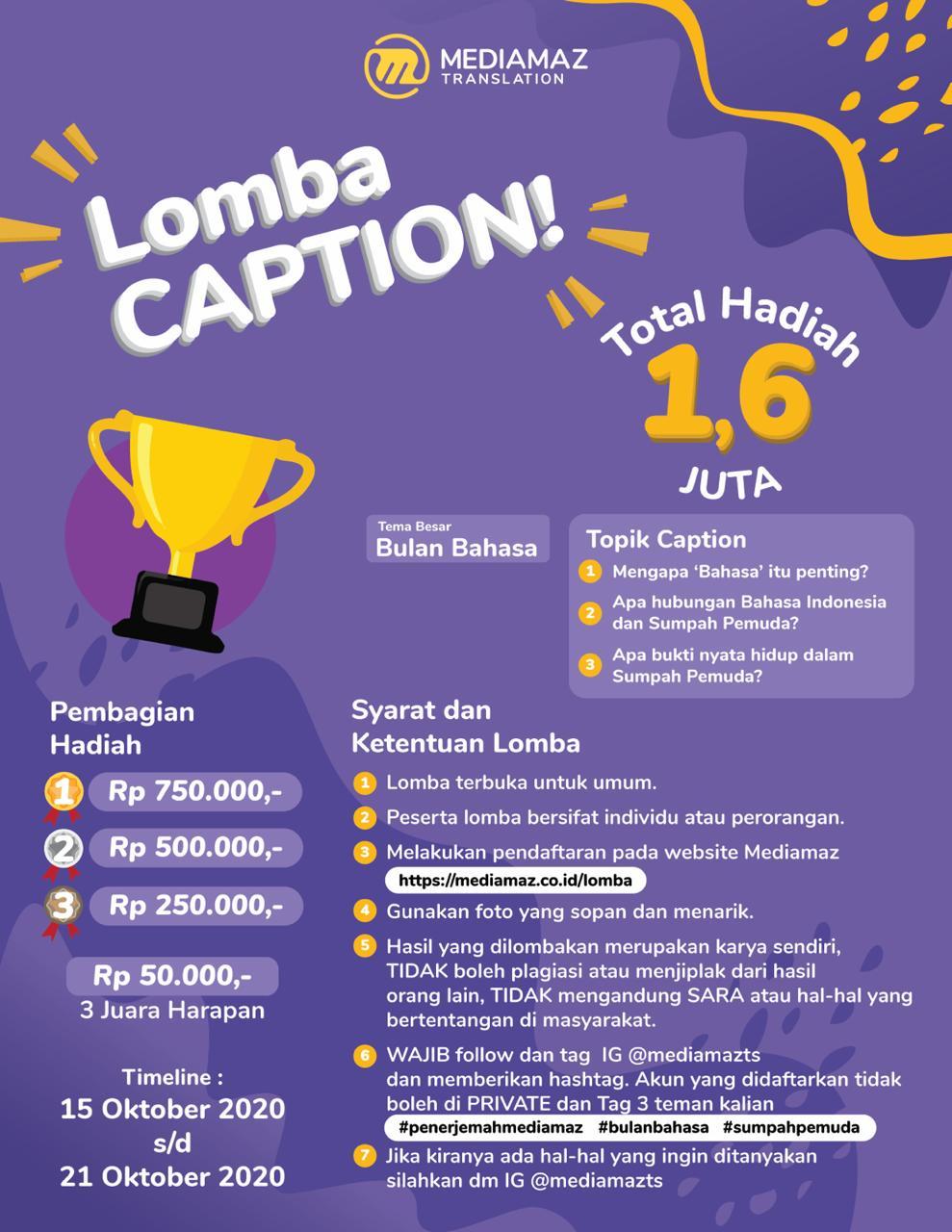 Lomba Caption Mediamaz