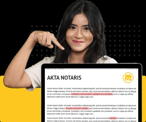 proofreading akta notaris