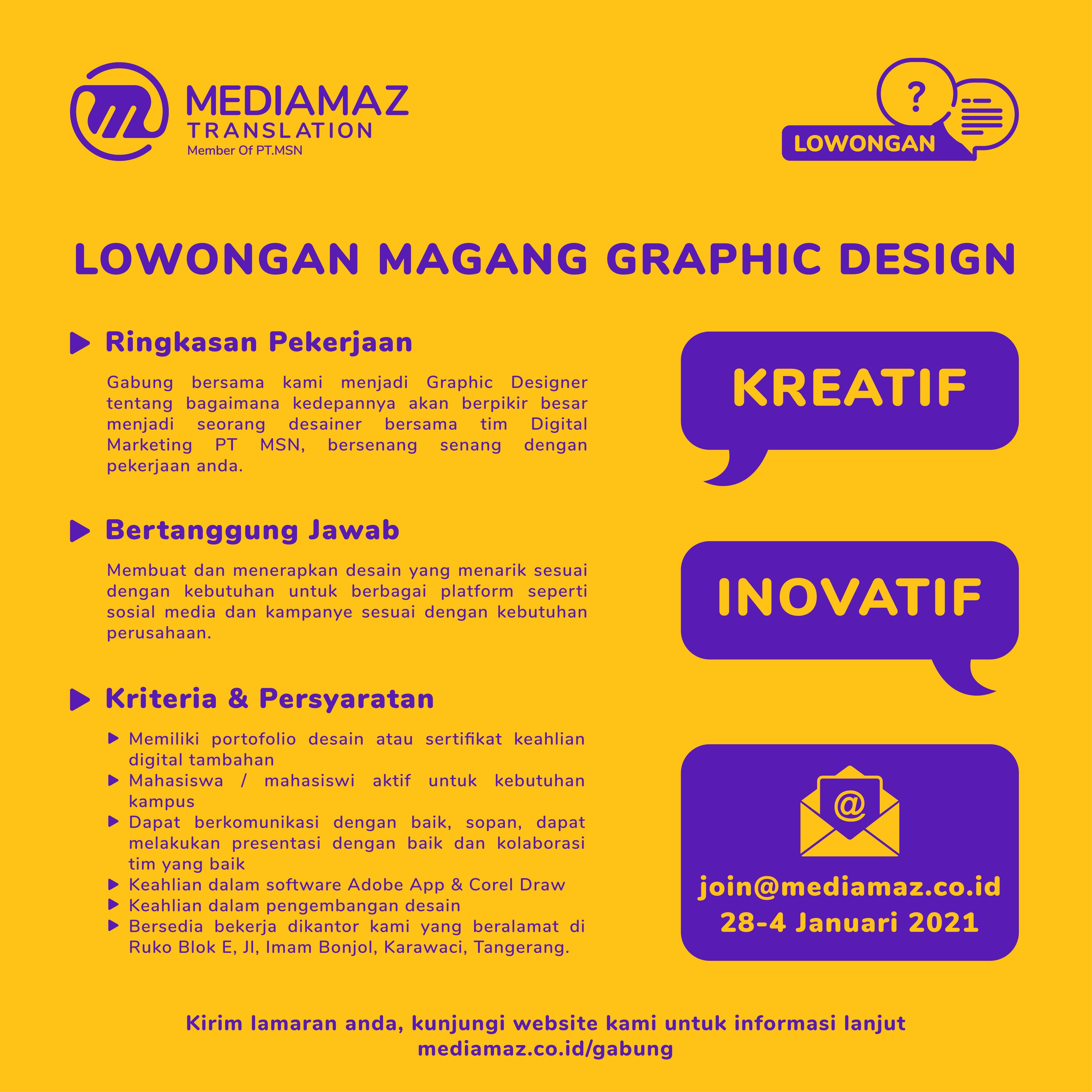 lowongan magang graphic design 2021