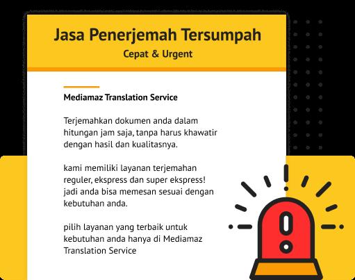 Penerjemah Tersumpah Cepat & Urgent