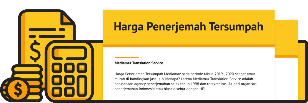 Harga Penerjemah Tersumpah 2020