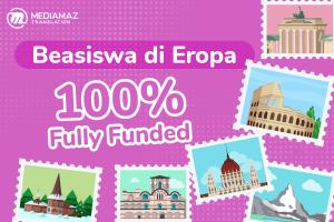 4 Beasiswa Eropa Jenjang S1, S2, dan S3 Fully Funded!