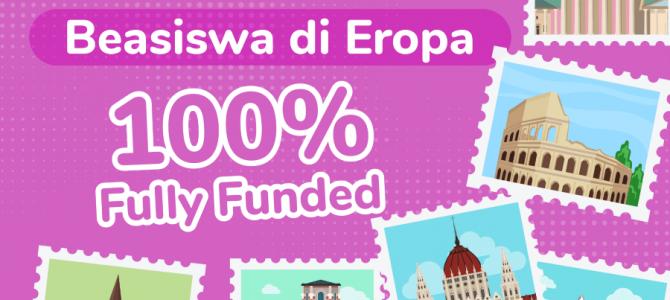 Beasiswa Eropa Jenjang S1, S2, dan S3 Fully Funded!