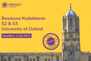 Beasiswa Kedokteran S2 dan S3 Oxford University